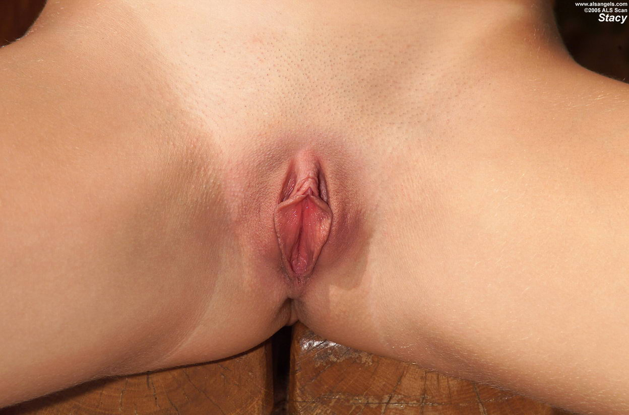 Wet shaved pussy piercings