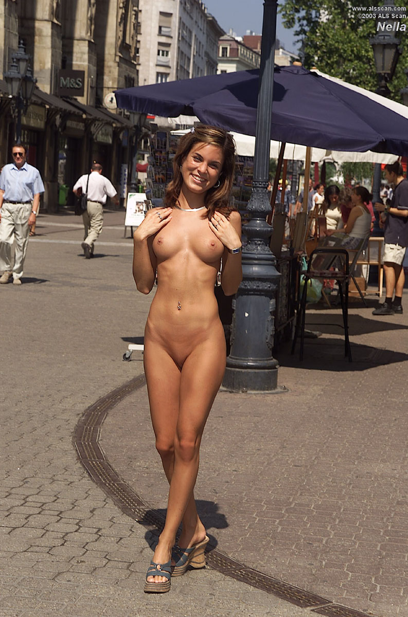 On street woman nude